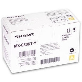 MX-C30NTY Toner Cartridge - Sharp Genuine OEM (Yellow)